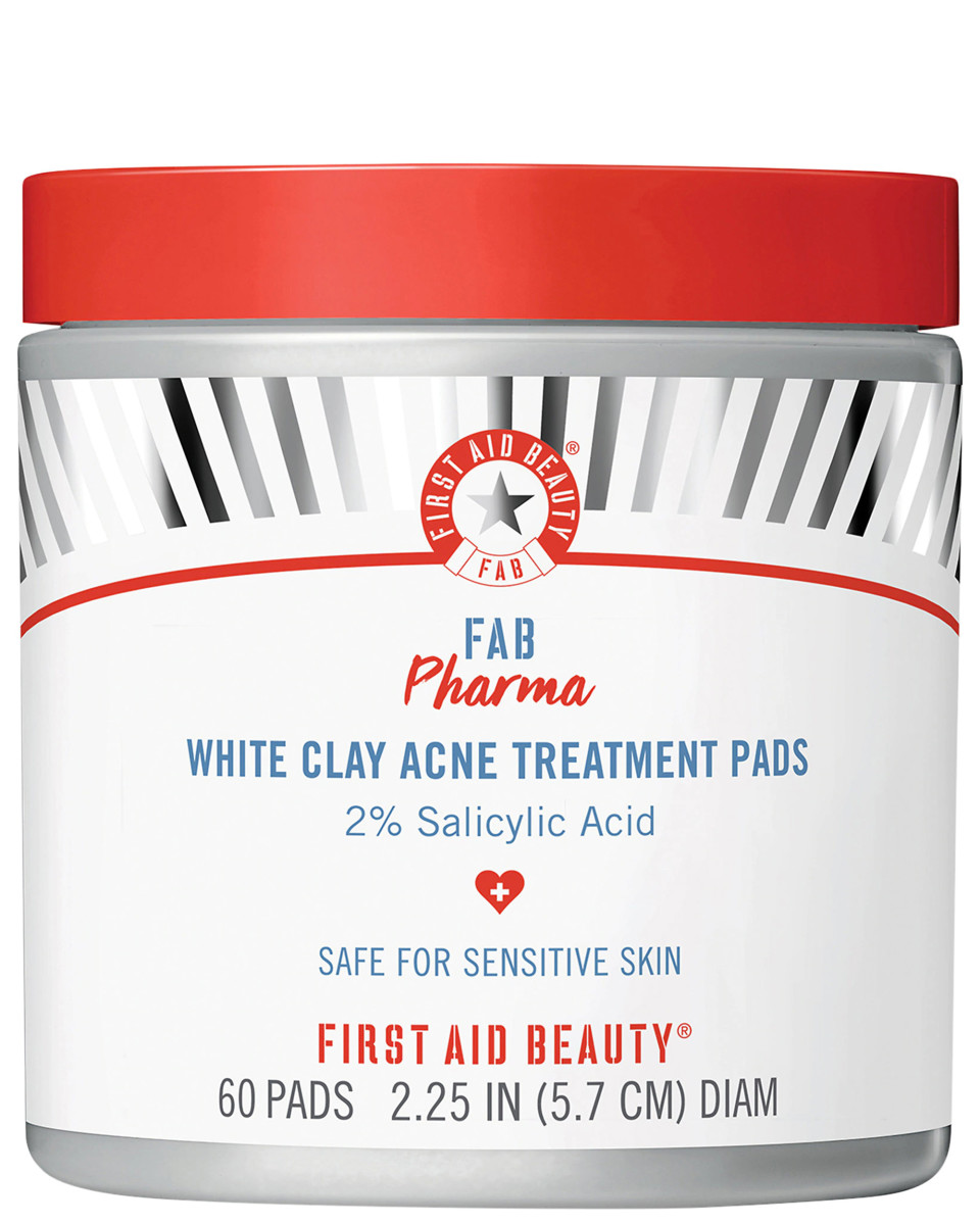 First Aid Beauty FAB Pharma White Clay Acne Treatment Pads